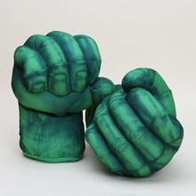 10 ''26 centímetros de Super-heróis Brinquedos Incrível Hulk Luvas/SpiderMan homem aranha Mãos Quebra Luvas De Pelúcia Toy Kids(China)