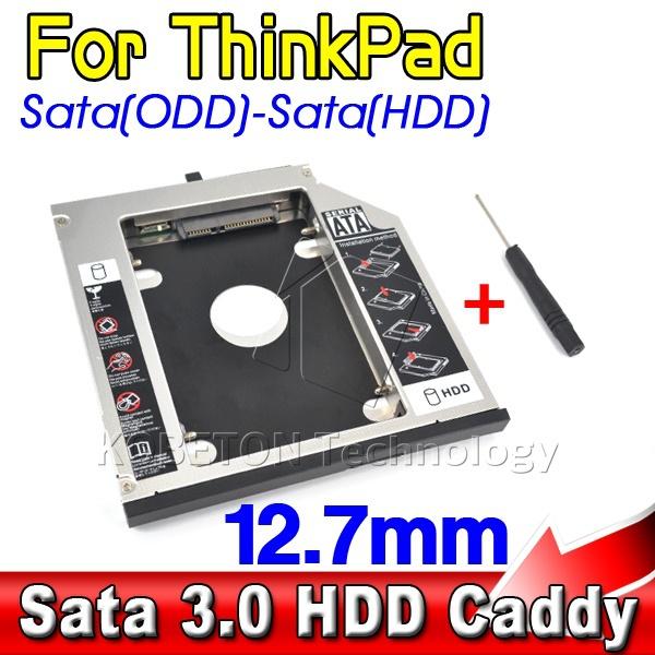 SATA 3.0 to Sata 2nd HDD Caddy 12.7mm SSD Case Enclosure Optibay for IBM Lenovo Thinkpad R400 R500 T420 T430 T520(China (Mainland))
