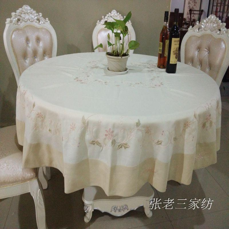 New export trade of the original single hand-embroidered flower garden round table cloth cotton Buu style round table cloth King(China (Mainland))