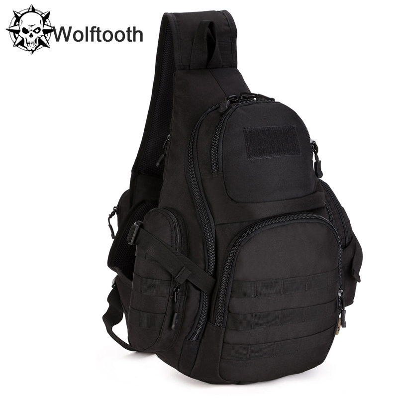 2015 New Men Waterproof 1000D Nylon Military Tactical Travel Hiking Riding Shoulder Messenger Back Pack Triangle Chest Bag(China (Mainland))