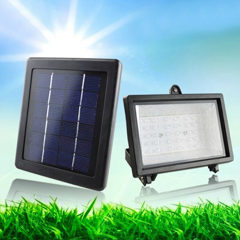 outdoor solar powered flood light 40 led spotlight lamp
