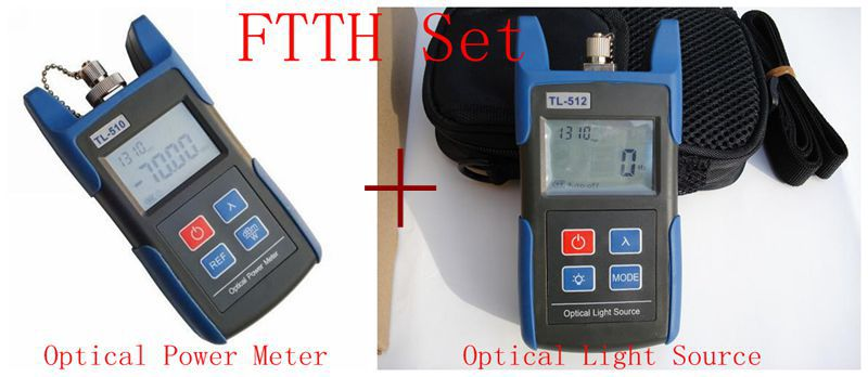 FTTH Optical Multimeter Fiber Equipment TL510C -50 ~ + 26dBm Optical Power Meter and TL512 Optical Light Source High Quality(China (Mainland))