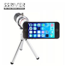 Buy SSRIVER 12X Optical Zoom Telescope Camera Lens+Tripod +Back Case Cover Phone 12X Zoom Lens iPhone 5 5s for $18.26 in AliExpress store