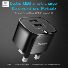 Buy Baseus 5V 2.4A Universal Dual USB Charger Travel Wall Charger Adapter Portable UK Plug Smart Mobile Phone Quick Tablet Charger for $8.52 in AliExpress store