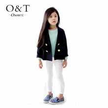 Drop Shipping New arrival Hot Sale 2015 Autumn Child Female Baby Slim Stretch Cotton Trousers Girl