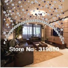 On sale!!! Wholesale  K9 glass crystal curtain beaded door curtain(China (Mainland))