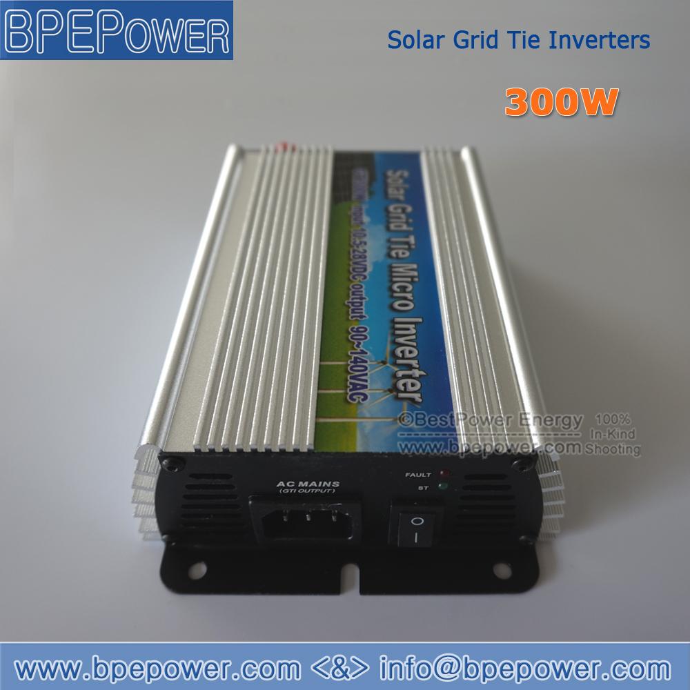 Hot Sale! Pure Sine Wave Inverter DC10.5-28V to AC90~140V 300W Grid Tie Micro Solar Inverter Suitable for 300-420W 18V PV Module