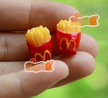 Gift For Girls MacDonald fries Food Snacks 1/12 Dollhouse Miniature Furniture(China (Mainland))