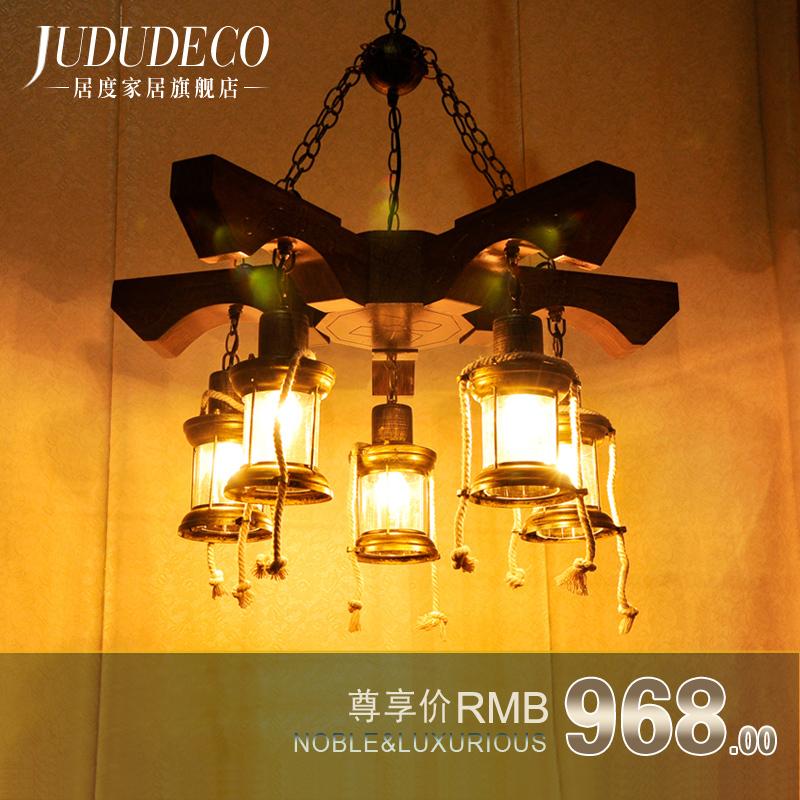 Designer lamp models cafe bar restaurant hall nostalgia shop, creative arts and creative personality chandelier lighting(China (Mainland))