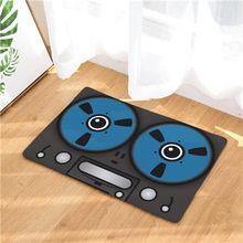 Nuevas alfombras antideslizantes con estampado de cámara de dibujos animados alfombras de cocina para piso de baño 40x60or50x80cm(China)
