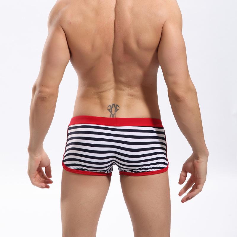 Нижнее белье троса ткань в полоску купальный костюм стволы спорт шорты мужчины нейлон профессиональный купальник трусы Beachwears
