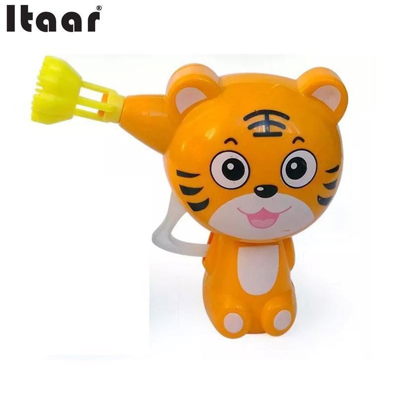 Kids Cartoon Animal Soap Water Bubble Gun Blower Machine Outdoor Toy Gift(China (Mainland))