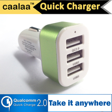 caalaa 3 USB Quick Charge 2.0 Car Charger for Samsung GalaxyS6 HTC Phone Charger QC 2.0 High Speed Fast charger for Xiaomi QC2.0(China (Mainland))