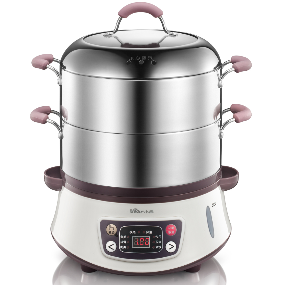Free shipping 304 stainless steel electric large capacity reservation multifunctional Electric Food Steamers(China (Mainland))