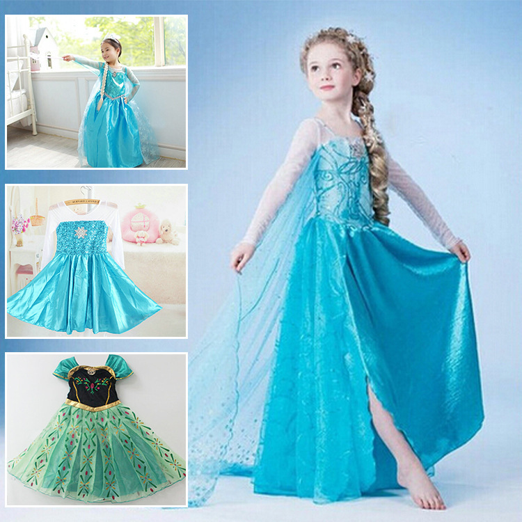 Princess Girl Dress Kid Baby Girl Dress For 2-10 Years Brand Children Dress Girl Cosplay Costume Party Clothing Vestidos Meninas(China (Mainland))