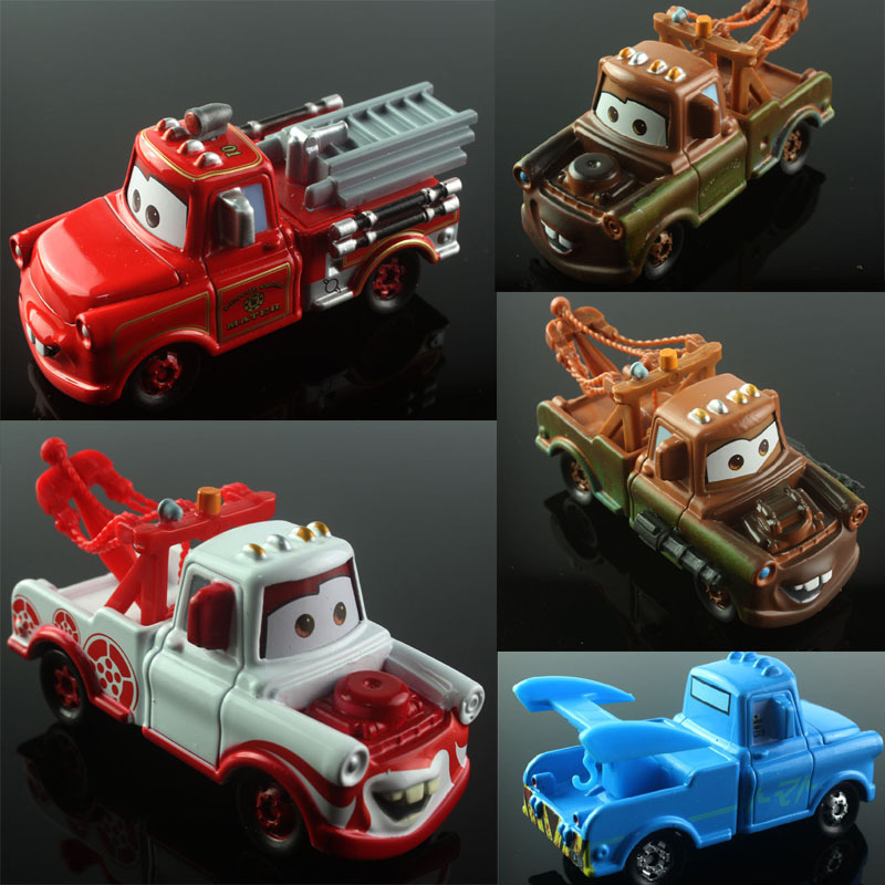 5pcs Mini kids disny cars 2 toy tomica tomy cars mater tow truck fire fighting truck alloy metal car diecast models toys gift(China (Mainland))