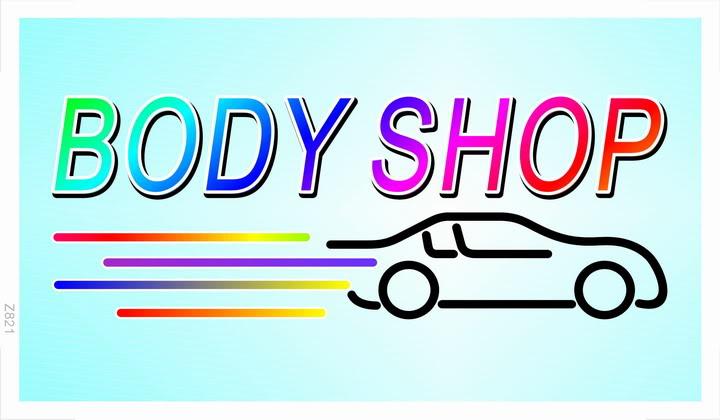 z821 Body Shop Car Auto Bar Beer Banner Shop Sign Wholesale Dropshipping(China (Mainland))