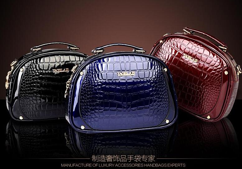 new women ladies patent LEATHER Shoulder messenger bag designer bag tote bag handbag LF06903(China (Mainland))