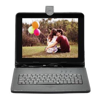 Четырехъядерный процессор планшеты шт книг 10 дюймов A33 Android 4.4 с двумя камерой 8 ГБ / 1 ГБ w / один планшет пк или добавить клавиатура крышка русский