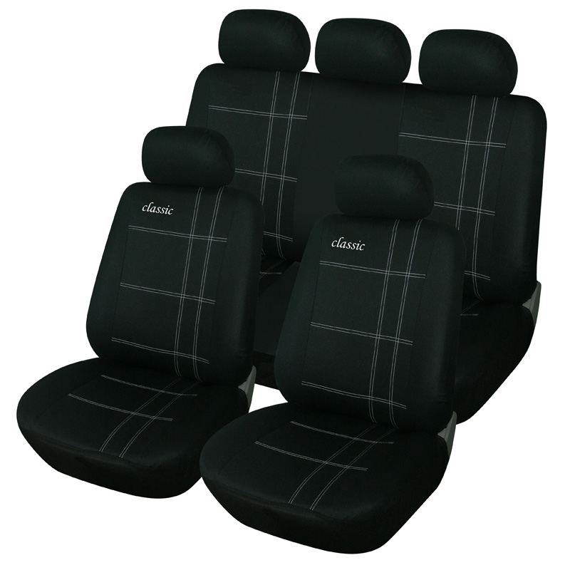 Classic Embroidery Universal Car Seat Covers Fit Most Car
