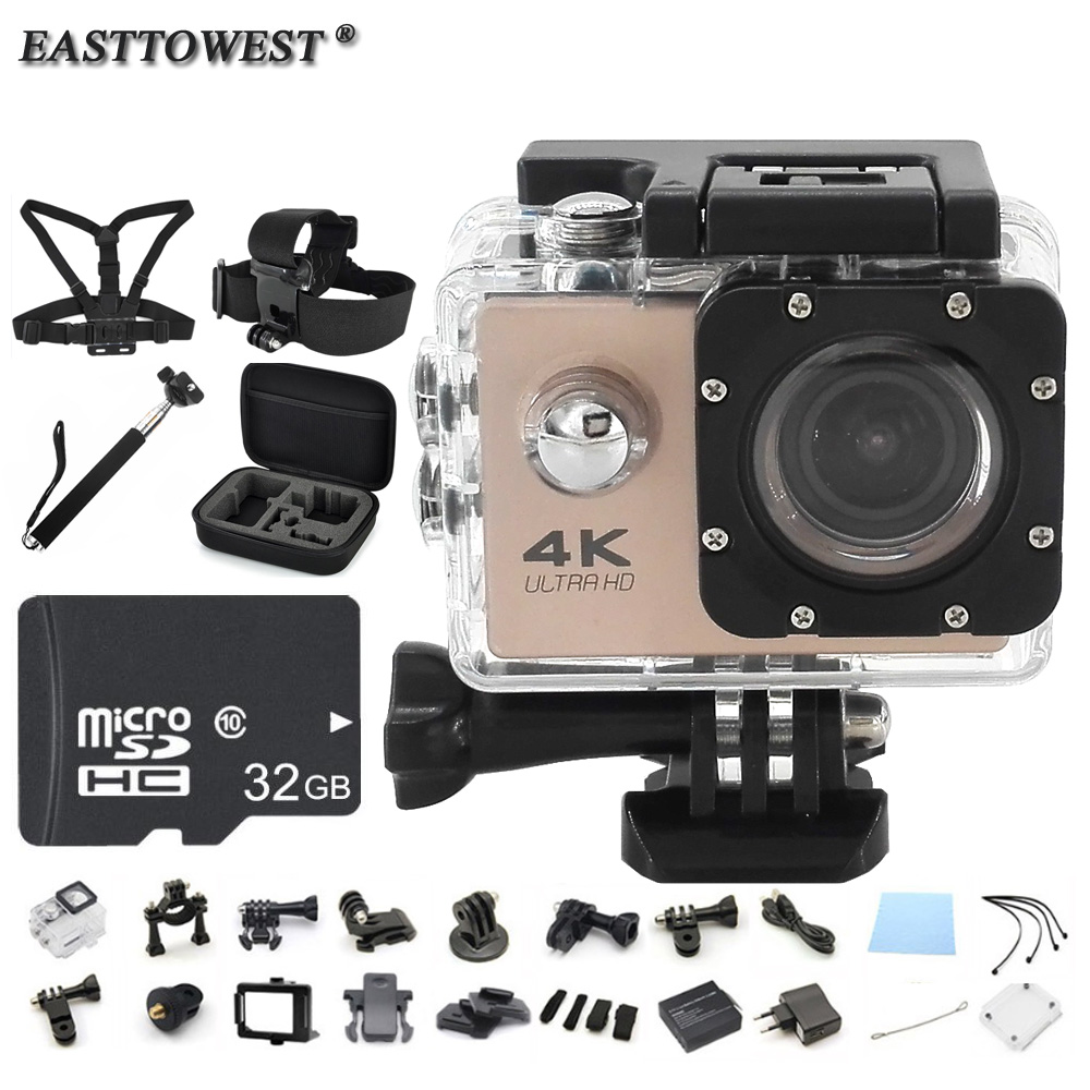 "4K Action Camera F60 2.0"" HD LCD 170D Wifi 1080P/60FPS Underwater Camera Go Waterproof Pro Style Sport Camera"