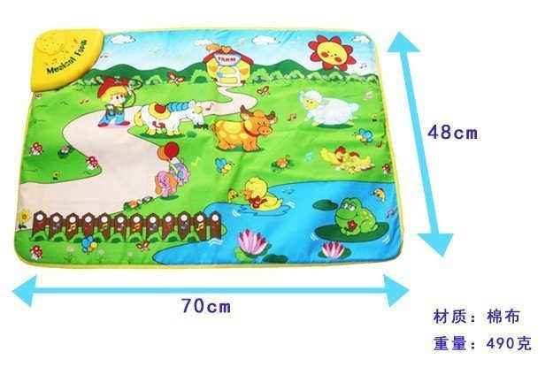 wholesale baby mat+music learning machine +educational toy interesting farm kid learning machine, intelligence/educational toys