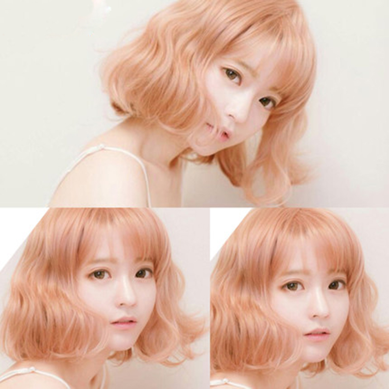 OHCOS Harajuku Style Daily Lolita Cosplay Wig 30cm Golden Yellow Curly Wig Peruca Free Shipping<br><br>Aliexpress