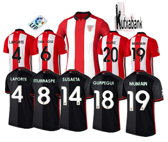 2015 2016 Athletic Bilbao Home Soccer Jerseys 15 16 Athletic Bilbao Football Jersey ITURRASPE MUNIAIN ADURIZ Bilbao Futbol Shirt(China (Mainland))
