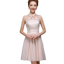 2016 Fashion Bridesmaid Dresses Summer Plus Size Chiffon Vestidos Sexy Slim Halter Strapless Wedding Party Short Dress BV01(China (Mainland))