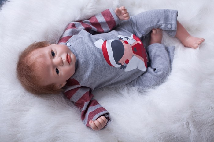 Reborn dolls on the market 20″ actual new child child trying silicone vinyl dolls material physique youngster children reward dolls bonecas
