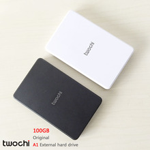 Free shipping 2016 New Style 2.5 inch Twochi A1 USB2.0 HDD 100GB Slim External hard drive Portable Storage disk wholesale Price