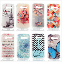 Luxury Ultra Thin Transparent TPU Silicone Flower Eiffel Tower Phone Cover for Alcatel One Touch Pop C5 5036 OT5036 5036D