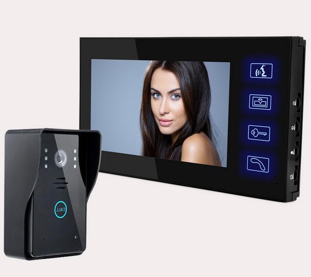 Freeshipping video door phones wireless intercom Doorbell 2.4GHz wireless video intercom two way doorbell(China (Mainland))