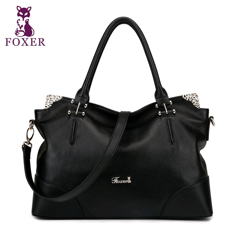 2015 Fashion Famous Brand Genuine Leather Women Shoulder Bag Foxer High Quality Women Handbags Women Plaid Zipper Crossbody Bags<br><br>Aliexpress