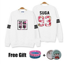 Kpop bts hoodies for men women bangtan boys album floral letter printed fans supportive o neck sweatshirt plus size tracksuits(China (Mainland))