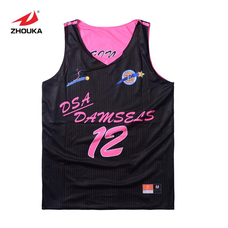 2016 Zhouka Hot sale Reversible Basketball uniform Breathable Custom(China (Mainland))