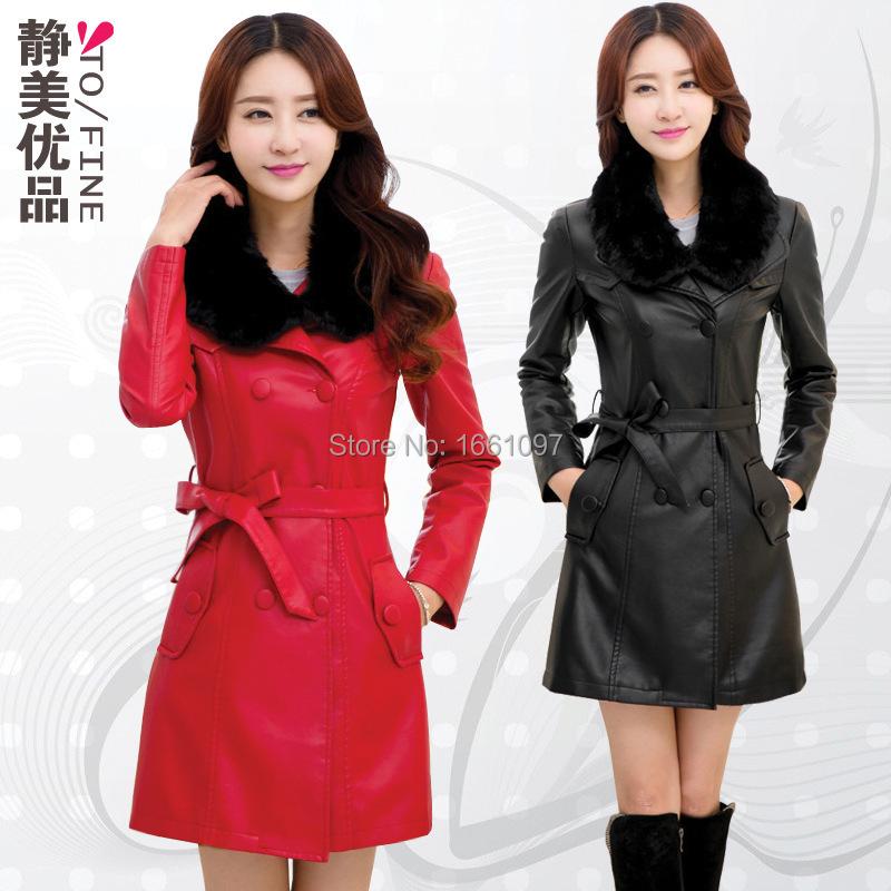 2014 new arrivals women leather jacket Fashion Slim PU leather jacket women with fur collar HOT SALE jaquetas de couro feminina(China (Mainland))