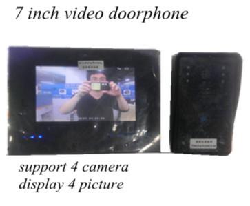 "support 4 camera display 7"" TFT Wireless Video Door Phone Intercom Doorbell Home Security Camera Monitor(China (Mainland))"