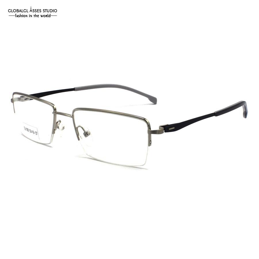 rectangle lens slim metal glasses frame women red on black special design hinge spectacle eyeglasses optical eyewear su1008 c5 2