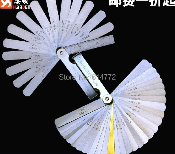 Stainless steel male imperial feeler measuring tool , feet thick gauge gap measuring tool , wedge measuring tool ,32pcs(China (Mainland))