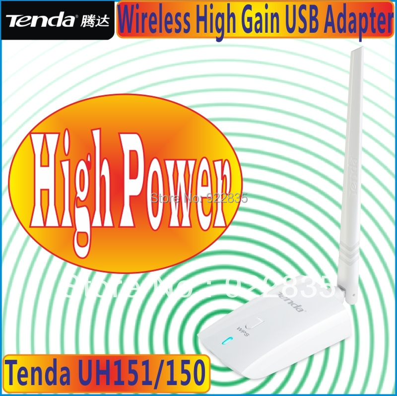 Tenda UH150/151 150Mbps 150M High Power Wireless N150 USB Adapter Network Adaptor with one antennas Supports soft AP free ship(China (Mainland))