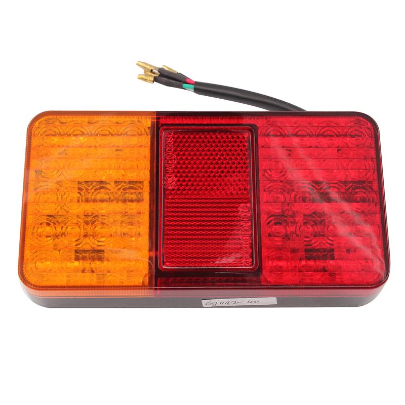 1 Pair 12V 40 LED Rear Tail Lights Stop Indicator Lamp Truck Trailer Van Bus Car
