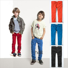 Hot Sale 2015 Autumn Children Jeans For Girls Boys Pants For 4-9 Years Kids Pencil Pants Boy Long Pants(China (Mainland))