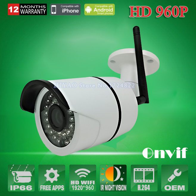 2 Pieces 960P IP Camera Wireless 1.3MP Wifi security system Outdoor video capture surveillance HD ONVIF CCTV mini cameras(China (Mainland))