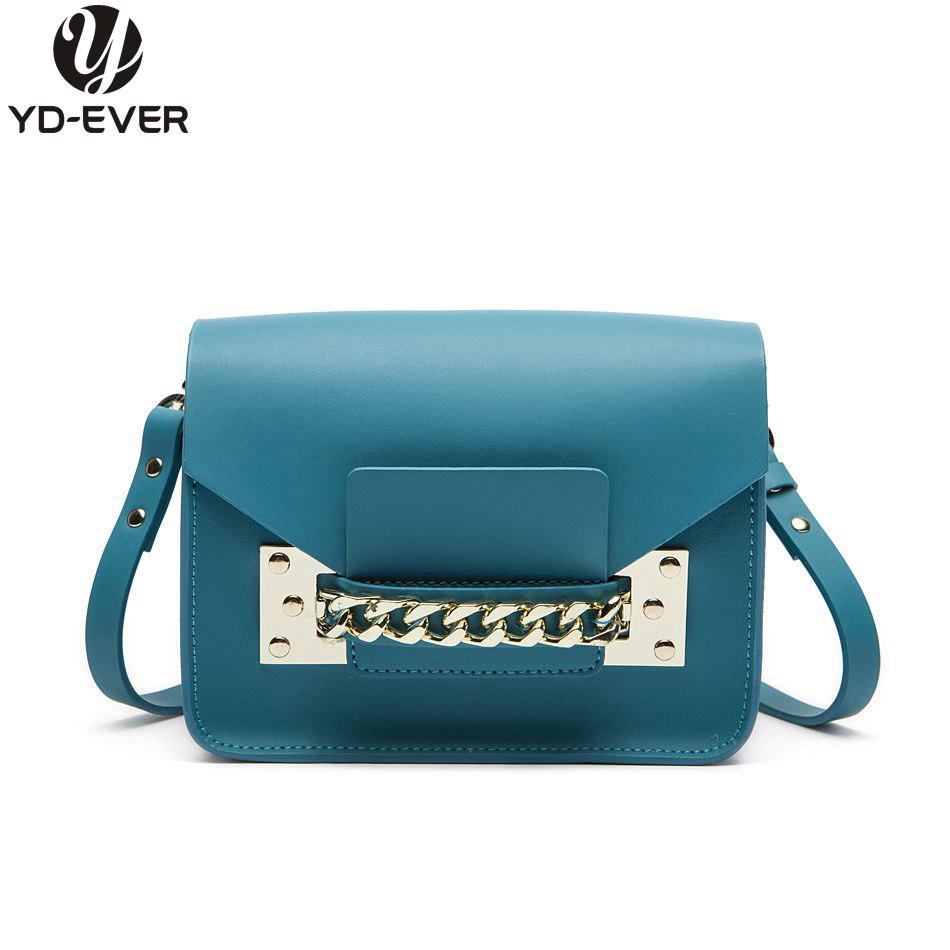 100% GENUINE LEATHER CHAINS ENVELOPE BAG - MINI Women Brand Fashion Cute Shoulder bag Clutch Crossbody Bag Purse messenger bag(China (Mainland))