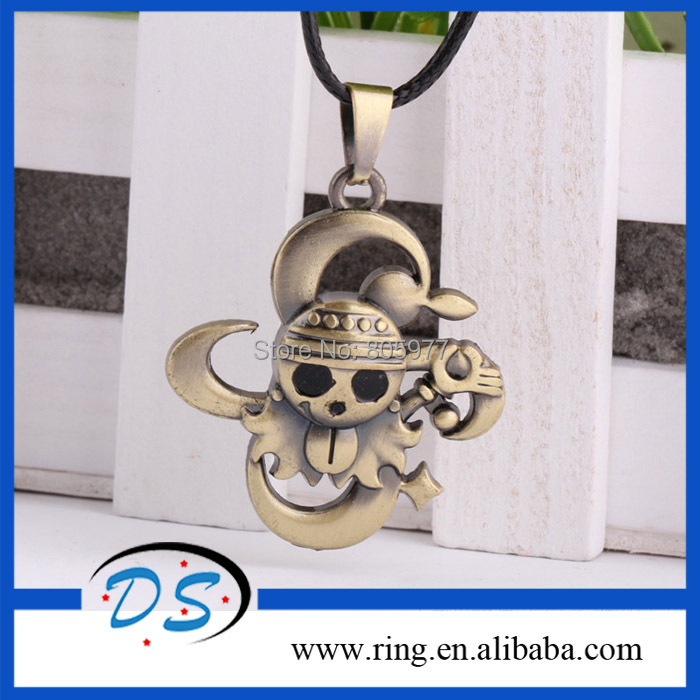 Fashion Accessories Cartoon JP Anime One Piece Copper Skull Necklaces &amp; Pendants New Statement <br><br>Aliexpress