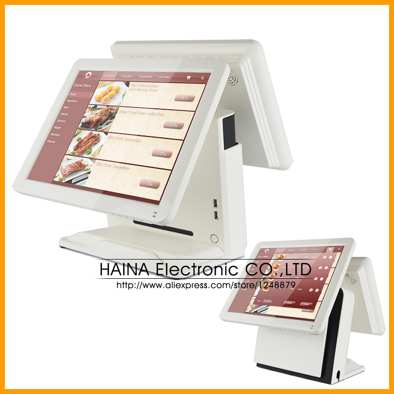 Core-i3 CPU Inside! All In One POS System Dual Screen Touch POS PC All In One POS Terminal Computer(China (Mainland))