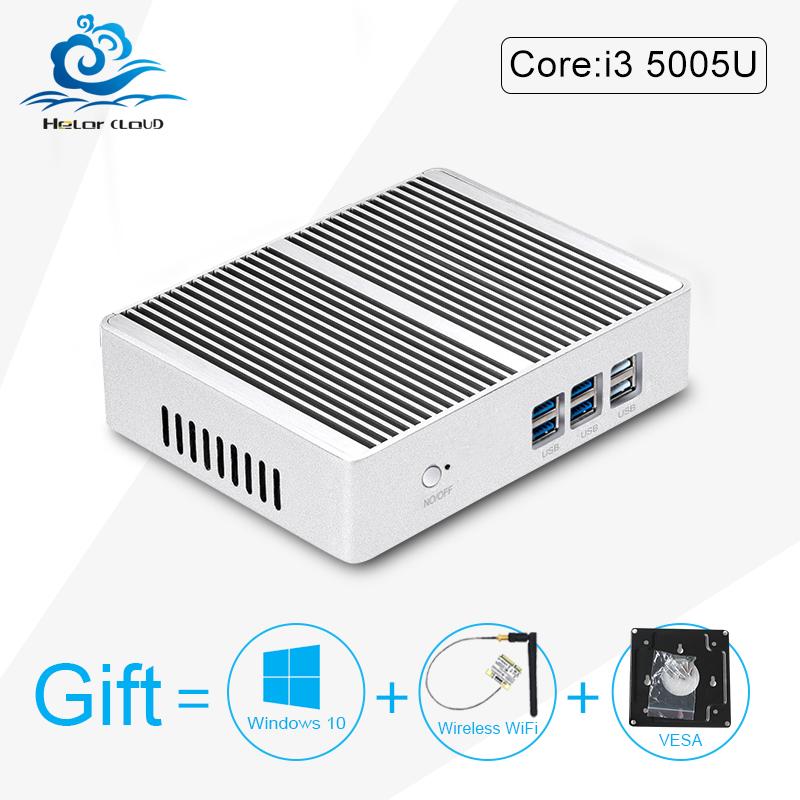 2016 Newest 5005u Mini Computer X32-i3 Core i3 Barebone Mini PC fanless i3 pc USB3.0, 4k HTPC HDMI+VGA windows 10, win8, linux(China (Mainland))
