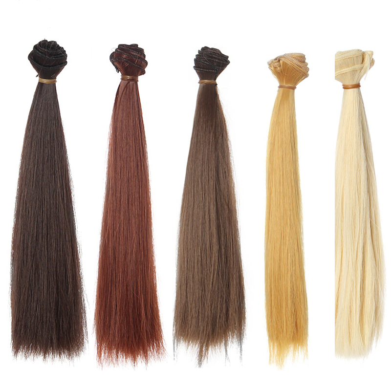12PCS LOT Wholesale Synthetic Fiber High temperature Wig font b Blond b font Brown Black Straight