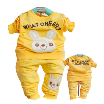 Free Shipping,2013 New Arrival,Baby Child Infant Rabbit Cotton Tee Pants Clothing Set,Kid Clothes Set, TTT155